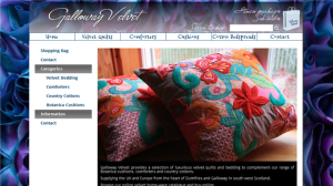 Galloway Velvet Actinic ecommerce website