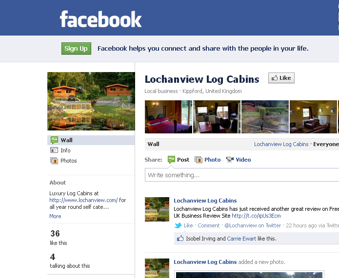 Lochanview Log Cabins - Facebook