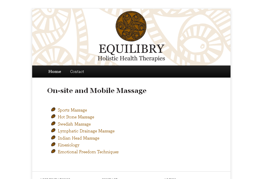 Equilibry - Holistic Health Therapies – On-site & Mobile Massage