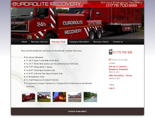 euroroute vehicle recovery a75 scotland