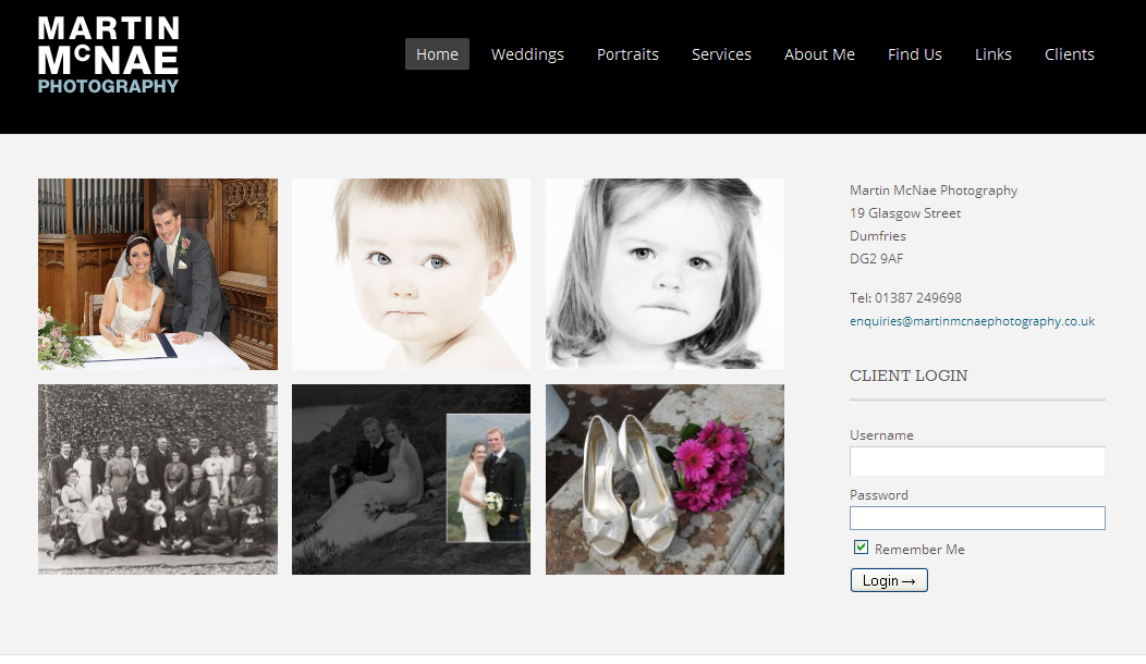 Clean photography portfolio theme